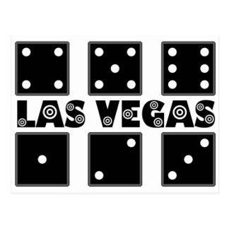 Postal Blanco de la diana de los dados de Vegas