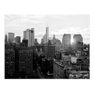 Postal blanco y negro de New York City