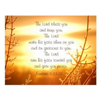 Postal Blessing Bible Verse Postcard de señor