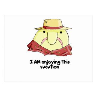 Postal Blobfish el vacaciones