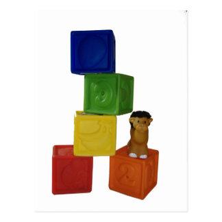 Postal bloques coloridos del juego del bebé