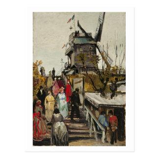 Postal Blute-Aleta de Le Moulin de, Vincent van Gogh