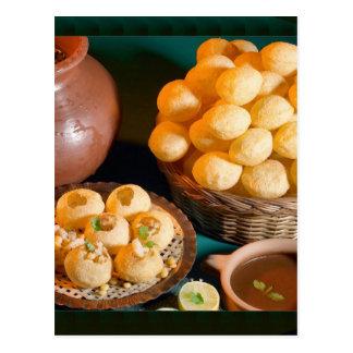 Postal Bocado indio de la cocina de GOLE GAPPAY Panni
