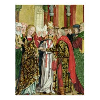 Postal Boda de la Virgen, del altar de la bóveda, 1499