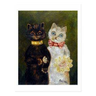 Postal Boda del gato, Louis Wain
