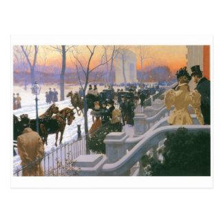 Postal Boda del invierno en Washington C. cuadrada 1897