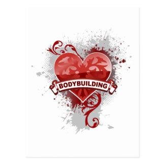 Postal Bodybuilding del corazón