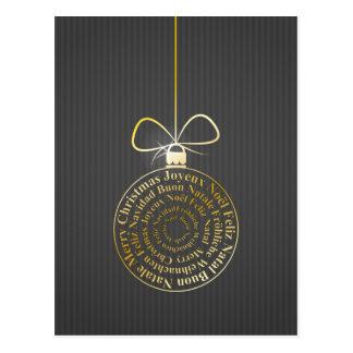Postal Bola del navidad