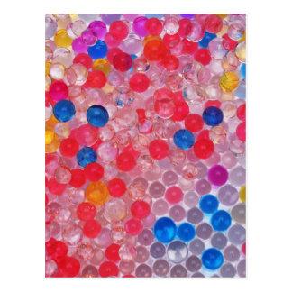 Postal bolas transparentes del agua