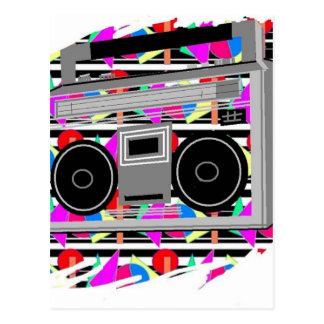 Postal boombox RETRO estéreo de los años 80 del hip-hop