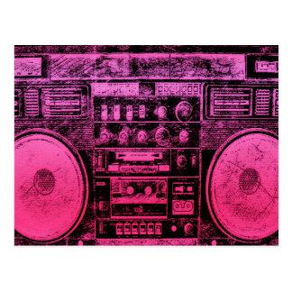 Postal boombox rosado