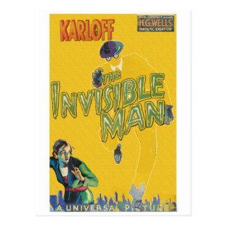 Postal Boris Karloff como el hombre invisible