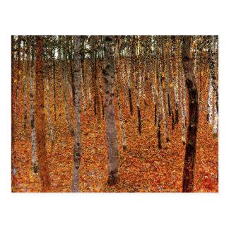 Postal Bosque de Gustavo Klimt del arte de Fne de los