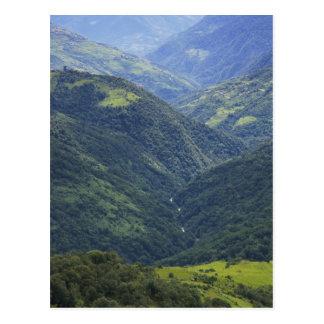 Postal Bosque de las tierras de labrantío y de Himalaya