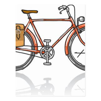 Postal Bosquejo de la bicicleta de la escuela vieja