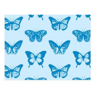 Postal Bosquejo de la mariposa, cerulean y azul de cielo