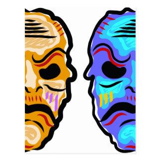Postal Bosquejo de la máscara del vudú