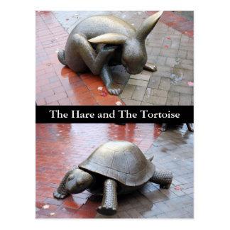 Postal Boston - la liebre y la tortuga
