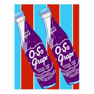 Postal Botella de soda retra de las bebidas de Ktsch del