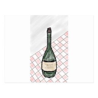 Postal Botella de vino