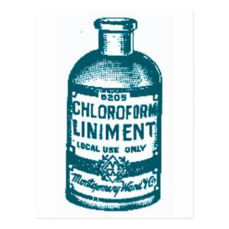 Postal Botella del cloroformo