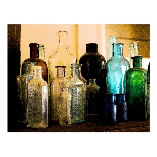 Postal Botellas antiguas