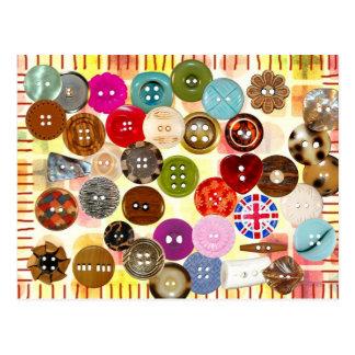 Postal Botones de costura coloridos
