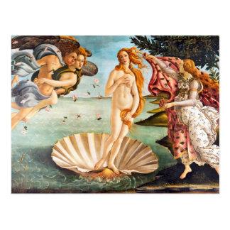 Postal Botticelli hermoso Venus restaurado y Recolored