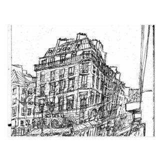 Postal Boulevard Paris arquitectura Bohemia calle existe