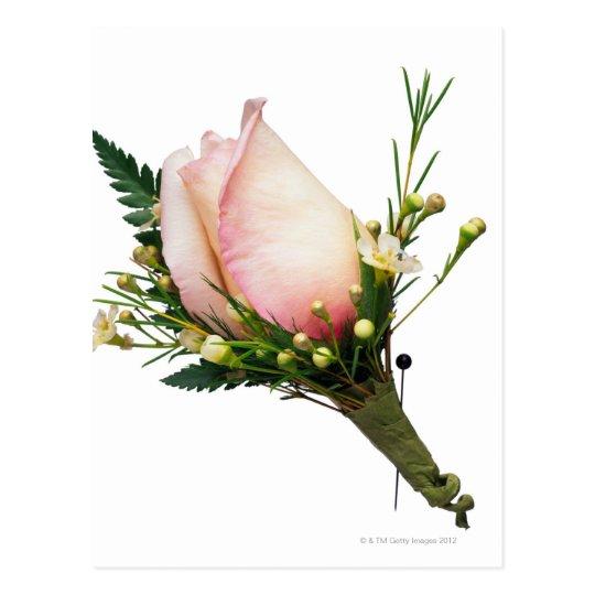Postal Boutonniere color de rosa