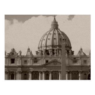 Postal Bóveda de la basílica Roma de St Peters
