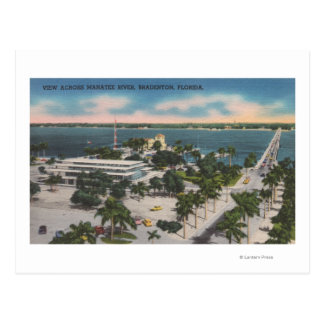 Postal Bradenton, la Florida - visión a través del río