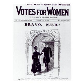 Postal ¡Bravo, N.U.R! , portada de los 'votos para