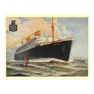 """Postal """"Bremen"""" 1929"""