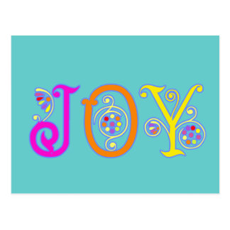 Postal brillante de la alegría