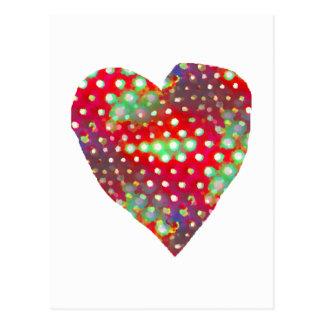 Postal brillante del corazón