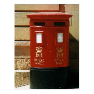 Postal británica de la caja de pilar
