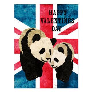 Postal británica del día de San Valentín de los os