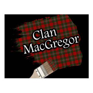 Postal Brocha escocesa del tartán de MacGregor del clan