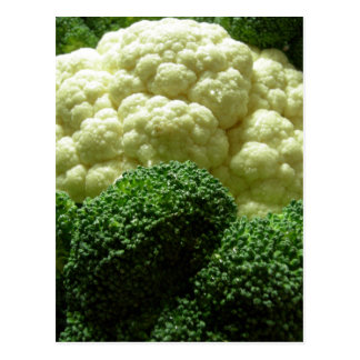 Postal Bróculi y coliflor