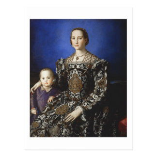 Postal Bronzino Eleanor de Toledo y su hijo
