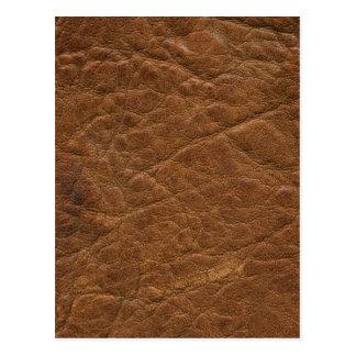 Postal Brown bronceó el fondo de cuero de la textura