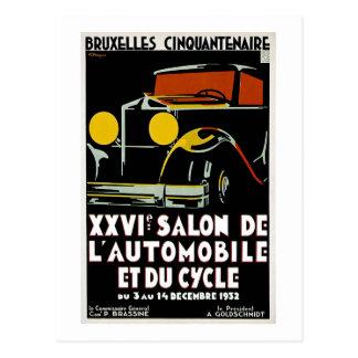 Postal Bruselas Cinquantenaire XXVI Salon de L' Autos