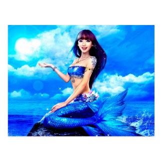 Postal Bubbly Mermaid