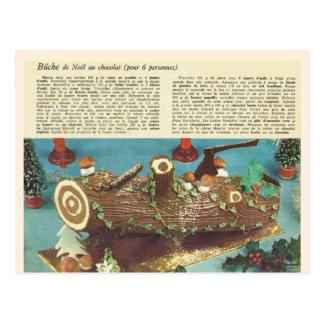 Postal Buche de Noel, registro del navidad