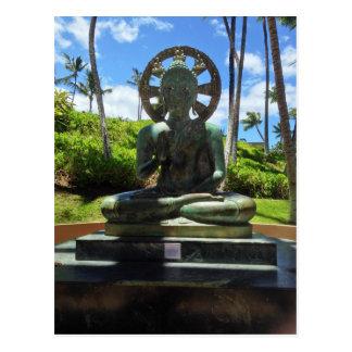 Postal Buda asentado bronce, Waikoloa, Hawaii