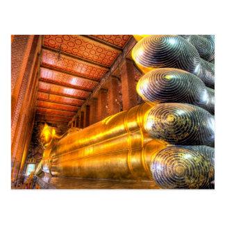 Postal Buda de descanso gigante dentro del templo, Wat