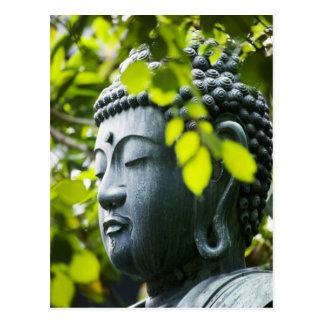 Postal Buda en jardín del templo de Senso-ji