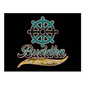 Postal Buda vive el Dharma