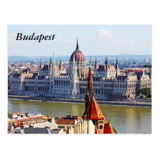 Postal Budapest, el edificio del parlamento, Budapest